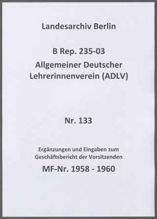 Ergänzungen aus der Geschäftsstelle zum Geschäftsbericht der Vorsitzenden